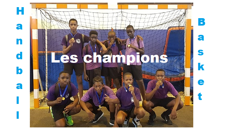 Champions en handball et basket-ball